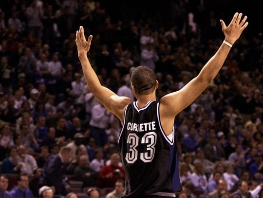 Cornette acknowledged the Butler crowd near the end of its victory over Wake Forest.