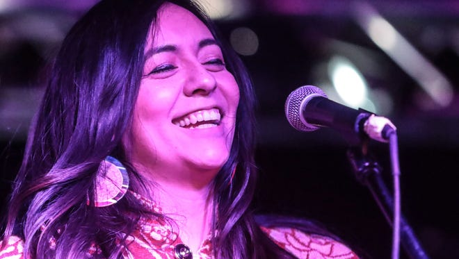 Giselle Woo and The Night Owls perform at the Tachevah semi-final showcase at the Date Shed in Indio on Thursday, March 22, 2018.