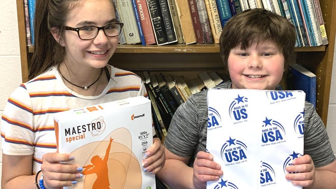 Anissa and Anthony Stevens are two students at Coldwater Community Schools who will benefit from the Coldwater teachers' union effort to raise $36,000 for paper for the year.