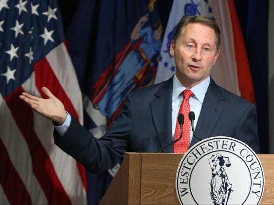 Westchester County Executive Rob Astorino presented details of his proposed 2017 budget, which included $15 million for the airport deal.