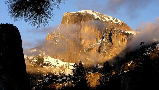 Half Dome in in Yosemite National Park.