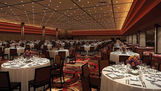 Mock up of new Nugget Casino Resort ballroom.