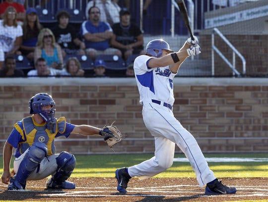 Oak Creek's Riley Shelton delivers the walk-off hit