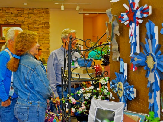 The annual sale also offered shoppers handmade crafted items and yard art just in time for Mother's Day.