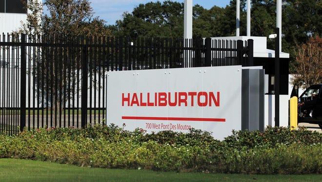 The Halliburton location on Pont des Mouton Road is pictured Monday, November 17, 2014.