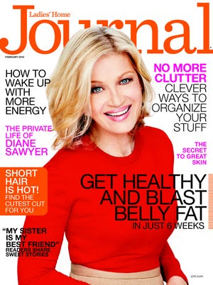 ABC News anchor Diane Sawyer on February cover of 'Ladies Home Journal.'