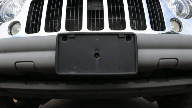 Beginning July 1, front license plates will no longer be required in Ohio.