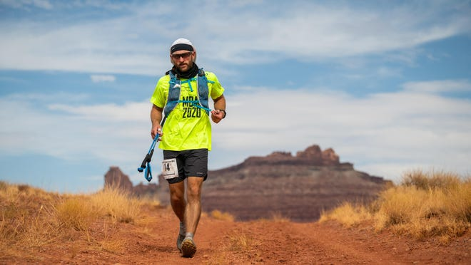 Chase Hammond, of Hays, runs through the desert during the Moab 240 Endurance Run. Hammond took part in the run in October and completed it in a little under four days.