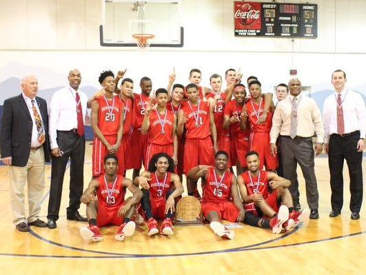 The Burlington School won the 1A NCISSA Championship game Saturday. Burlington School 57 Victory Christian 51