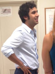 """Kunal Nayyar, who portrays Raj Koothrappali on """"The Big Bang Theory"""" chats with fans before his booksigning Saturday at the Barnes & Noble in Menlo Park Mall in Edison. Nayyar's book, """"Yes, My Accent Is Real And Some Other Things I Haven't Told You"""" was released Tuesday."""