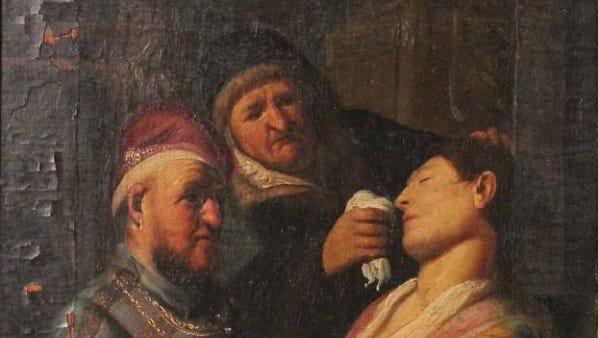 """Rembrandt's """"Smell,"""" formerly of New Jersey."""