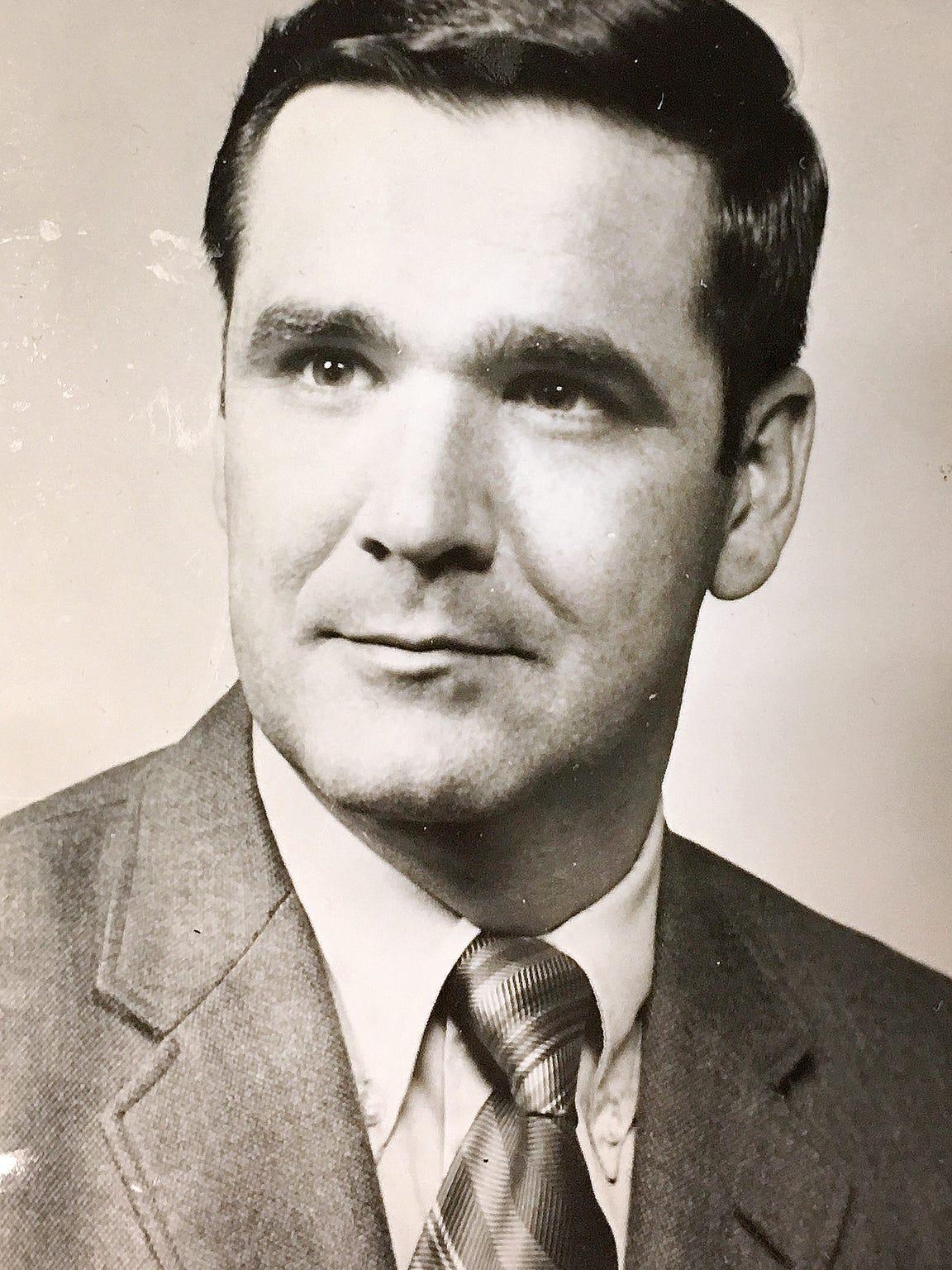 Headshot of Matthew J. Crehan, from 1972. Crehan represented