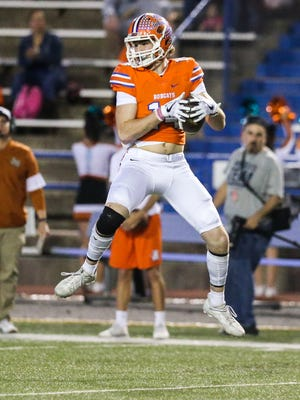San Angelo Central's Henry Teeter had three touchdown catches during the Bobcats' 55-37 loss to Mansfield on Friday in their Class 6A area round playoff game in Mansfield.