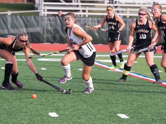 Rumson-Fair Haven played Southern for the field hockey SCT final held at Raritan High School in Hazlet on Saturday, November 4, 2017. /Russ DeSantis for the Asbury Park Press / Slug:ASB 1105 Field Hockey SCT Final