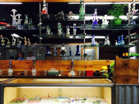 The selection of bongs and pipes at the newest pot store in Bremerton.