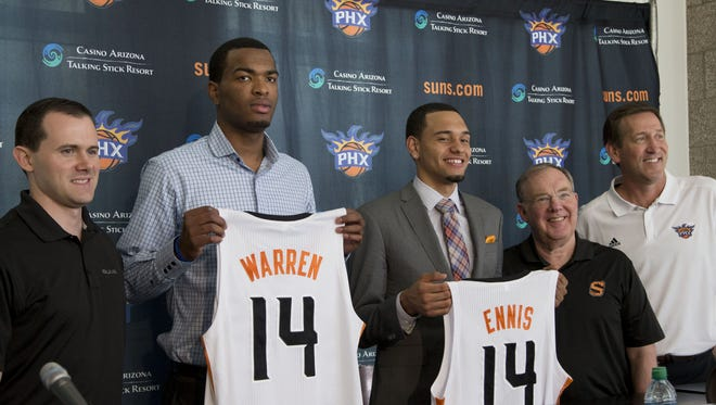 T.J. Warren and Tyler Ennis have signed with the Phoenix Suns.