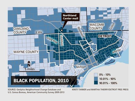 Black population, 2010