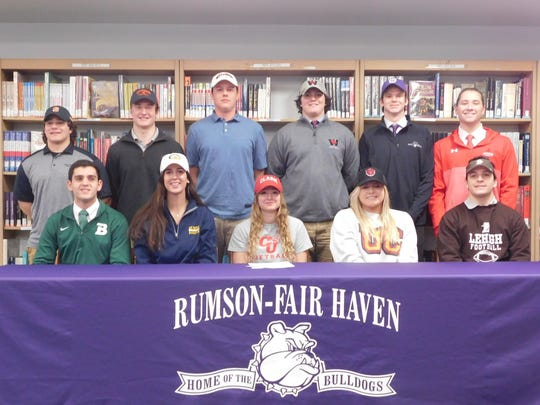 The 2018 Rumson-Fair Haven Signing Day Class.