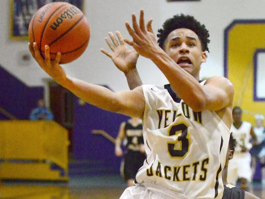 Keenan Pulley was the leading scorer for Springfield Tuesday night in their loss to Mt. Juliet.