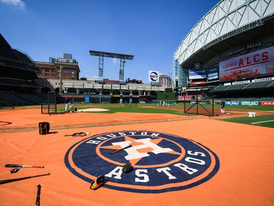 MLB: ALCS-Houston Astros Workouts