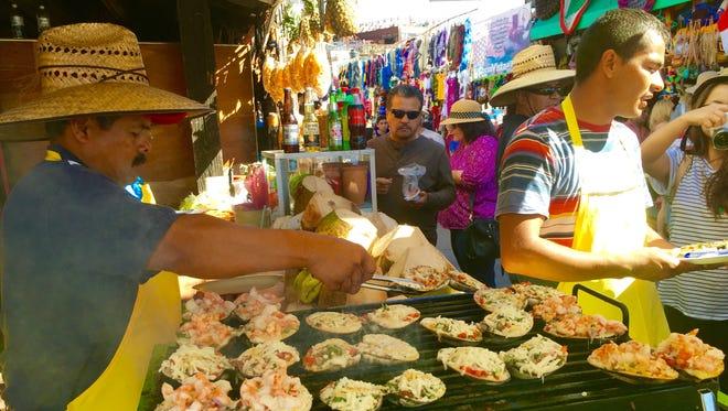 Baked clams in La Bufadora.