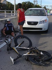 Rich Crouse was injured after a driver struck four cyclists July 12 on Fort Myers Beach.