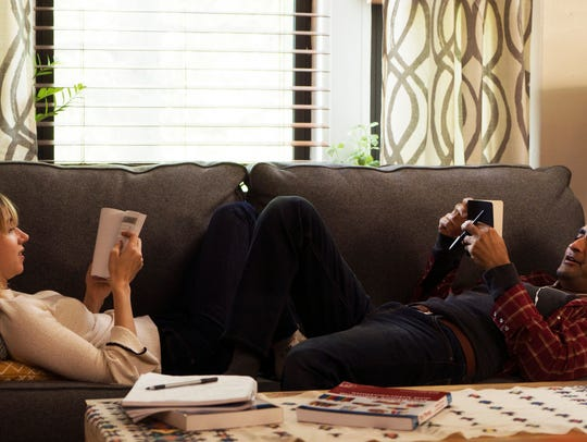 "Zoe Kazan and Kumail Nanjiani in ""The Big Sick."""