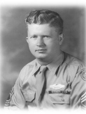 """This undated photograph released by the Yad Vashem Holocaust Memorial shows World War II, United States Army Master Sgt. Roddie Edmonds. Edmonds is being posthumously recognized with """"Righteous Among the Nations"""" Israel's highest honor for non-Jews who risked their lives to save Jews during World War II. He's the first American serviceman to earn the honor."""