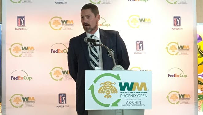 Andy Markham, Thunderbirds president, announced Sept. 12, 2017, that the group that hosts the Waste Management Phoenix Open would donate more than $10 million to Arizona charities.
