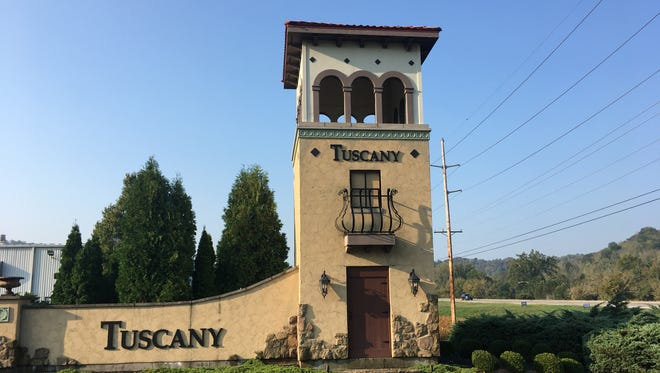 The entrance to the Tuscany development in south Covington along Ky. 17.