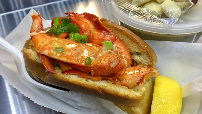 A lobster roll with warm butter, from the Mobstah Lobstah food truck.