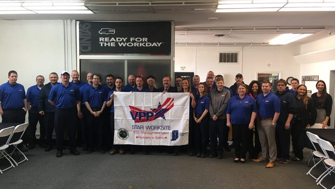 Cintas Corporation's uniform rental location in Muncie recently received Voluntary Protection Program (VPP) Star certification from the Occupational Safety and Health Administration (OSHA).