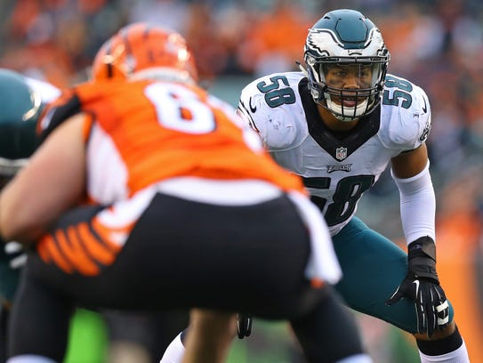 Philadelphia Eagles middle linebacker Jordan Hicks