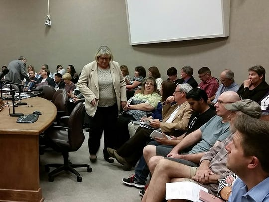 Attendees at a New Mexico State University Board of