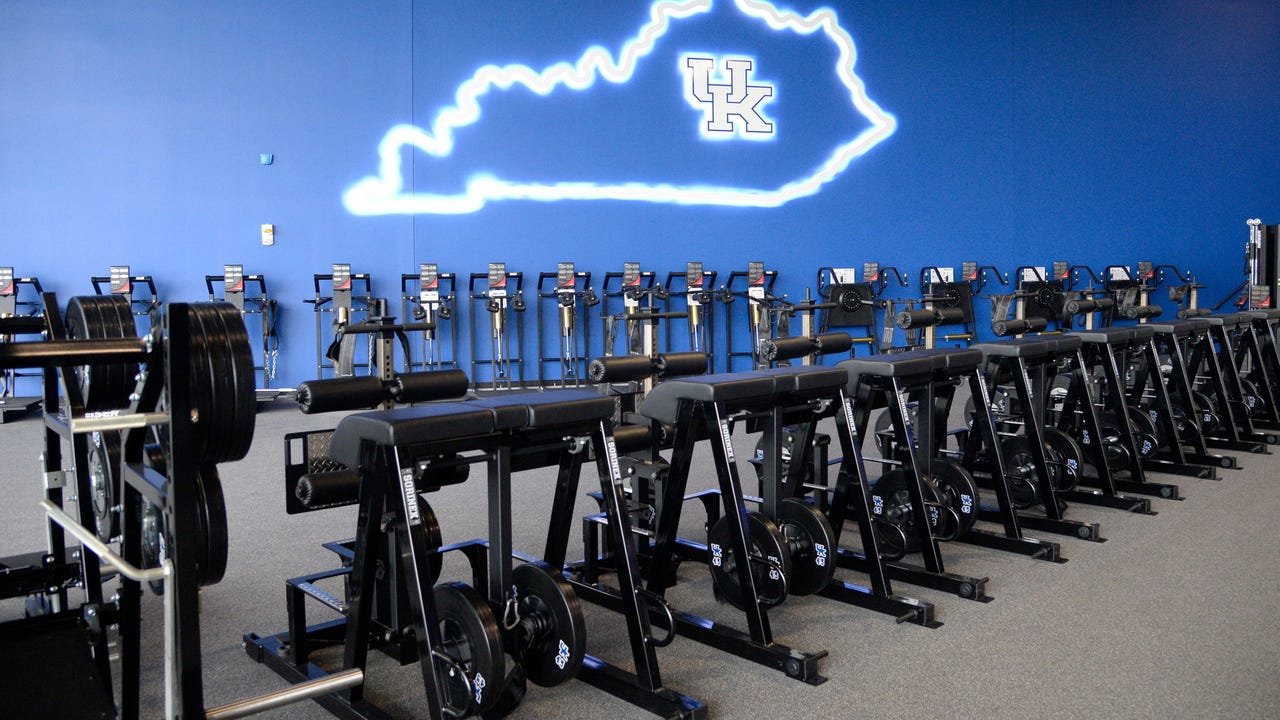 Take a look inside the new $45 million training facility for Kentucky's football program.