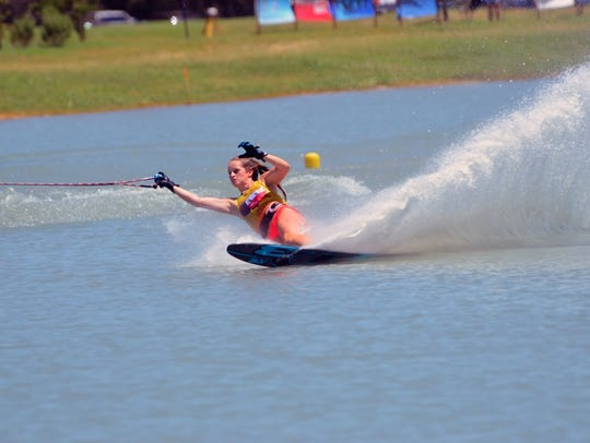Kennedy Hansen competes at the 2017 Goode Water Ski