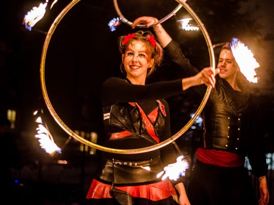 CelebrateNew Year's Eve as the Town Plaza in Metuchen opens with an outdoor party featuring fire dancers, an LED light show, music and restaurant specials all night.