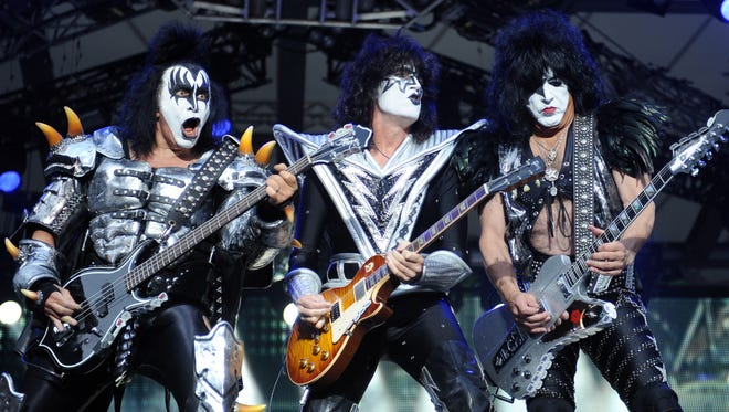 KISS, the glam-rock outfit that rose to fame during the mid-1970s, brings its Freedom to Rock Tour to Blue Cross Arena at 7:30 p.m. Monday, Aug. 29.