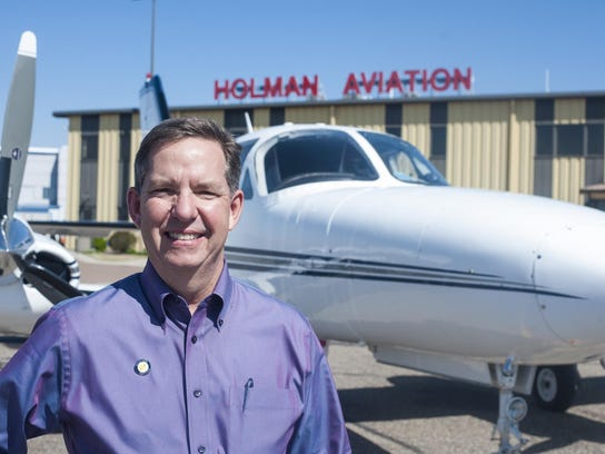 Dwight Holman, president of Holman Aviation, has worked