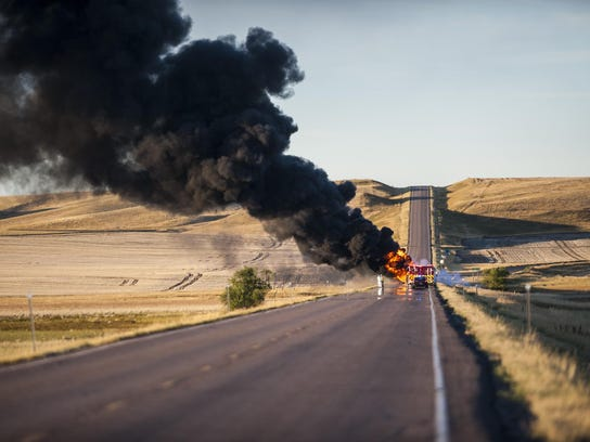Highway 87 Fire