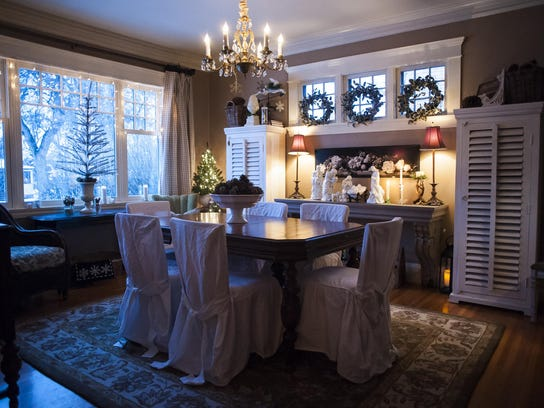 Kathy Van Tighem's dining room is decked out for the