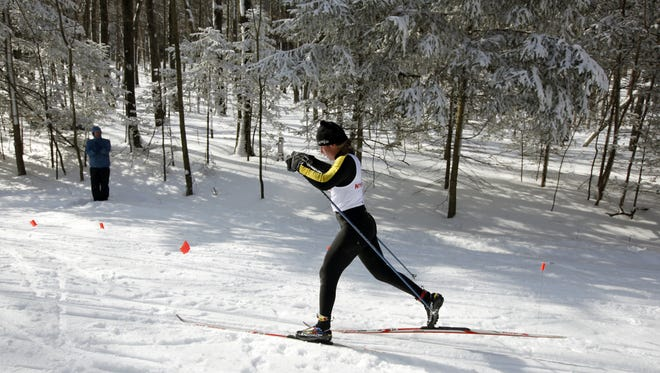 A file photo from the New York State Nordic skiing championships at Harriet Hollister Spencer Park in Conesus.