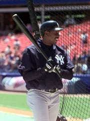 Yankees pitcher Doc Gooden leaves the batting cage