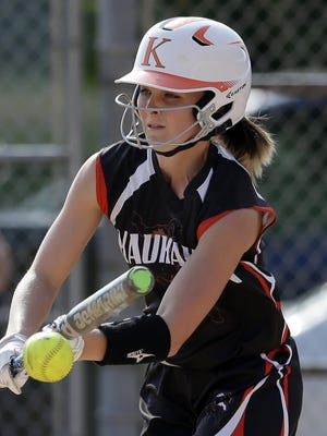 Kaukauna's Brianna Braeger has been named first-team all-state by the Wisconsin Fastpitch Softball Coaches Association, along with Megan Schweitzer of Appleton East.