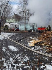 The fire broke out shortly after 12:30 p.m. on Sunday.