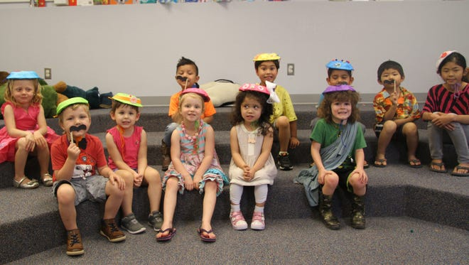 """Preschool story time and the tea party on Tuesday at Carlsbad Public Library taught the kids about good manners. The kids were taught to say, """"Please"""" and """"Thank you."""""""