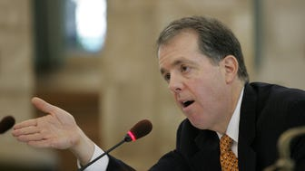 "Andrew Sidamon-Eristoff, who served as state treasurer under Gov. Chris Christie from 2010 to 2015, said he's ""a career-long skeptic when it comes to corporate tax incentives.'' A similar Indiana program was deployed in Donald Trump's deal with Carrier. (Staff photo/Tanya Breen)"