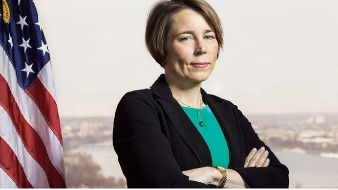 """""""It's important to have people in the Legislature that are ready to act, ready to pass policies that will help people,"""" says State Attorney General Maura Healey."""