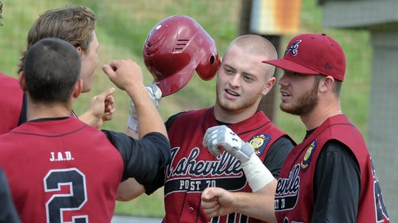 The Asheville American Legion Post 70 baseball team will play its final regular-season home game Saturday at Erwin.