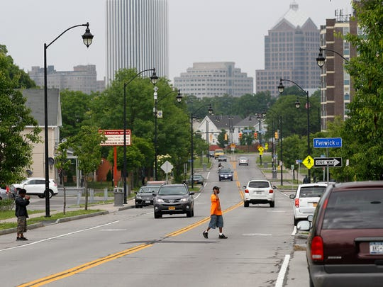South Plymouth Avenue looking north toward downtown.